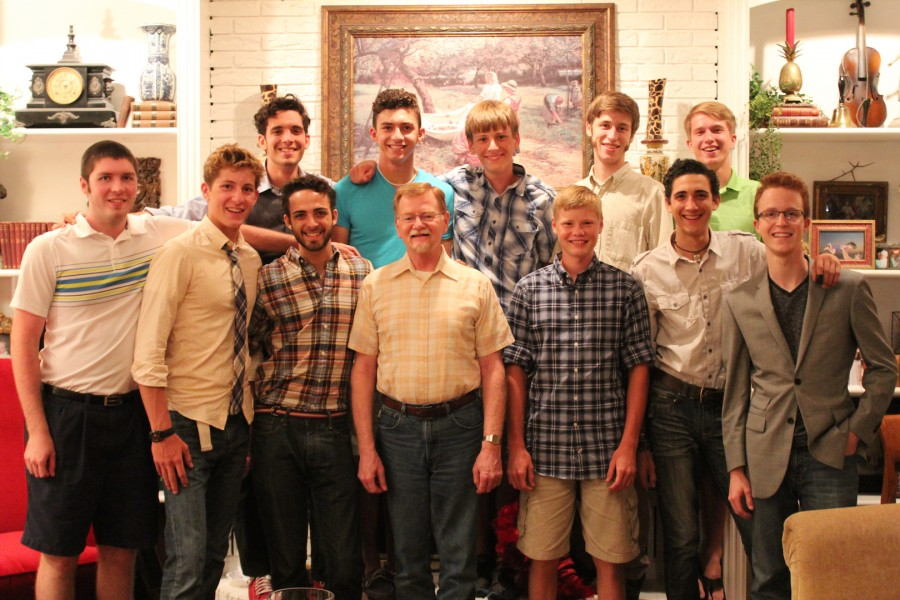 From left to right: (Top Row) Matthew, Samuel, Drake, Peter, Mark; (Bottom Row) Scott, Peter, Micaiah, Pastor Marcus Serven,Andrew, Marcel, Cody